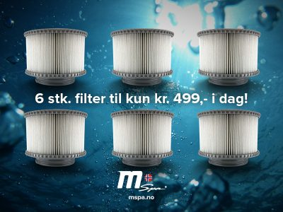6 stk Mspa filter!